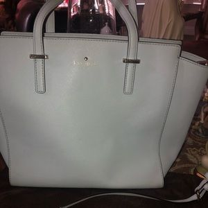 Light blue Kate Spade crossbody tote purse